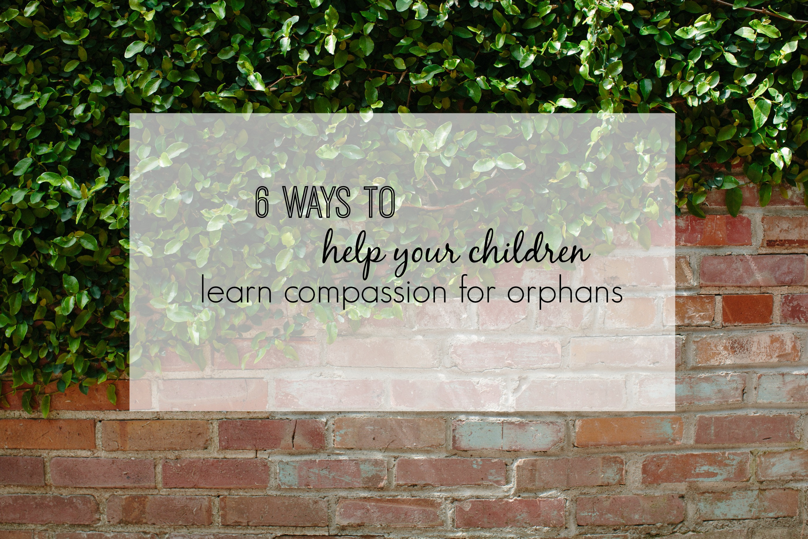 6 Ways To Help Your Children Learn Compassion
