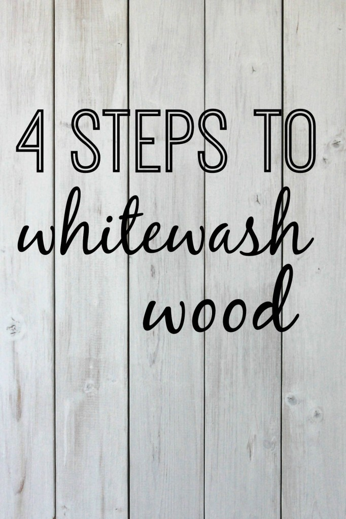 4 steps to whitewash wood | DIY tutorial for whitewashing a wooden pallet. www.homestead128.com
