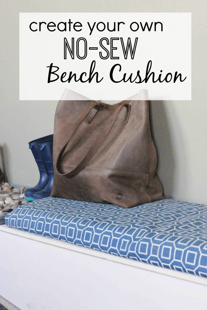 Create a bench cushion with no sewing required!  Find the DIY tutorial at www.homestead128.com