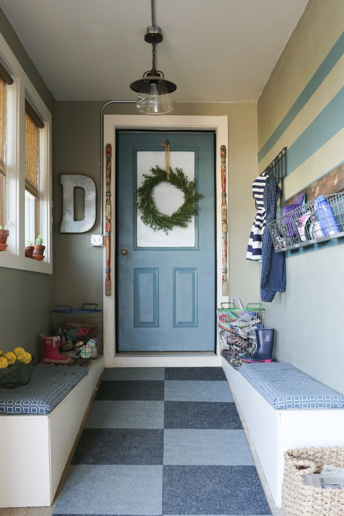 A mudroom for the whole family.  A place for coats, hats, and even dripping boots.  www.homestead128.com