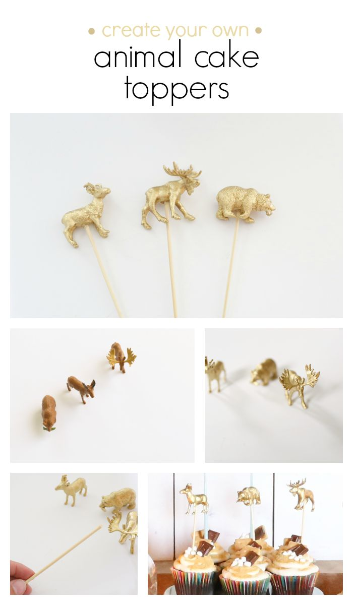 Diy animal cake toppers for Animal cake decoration