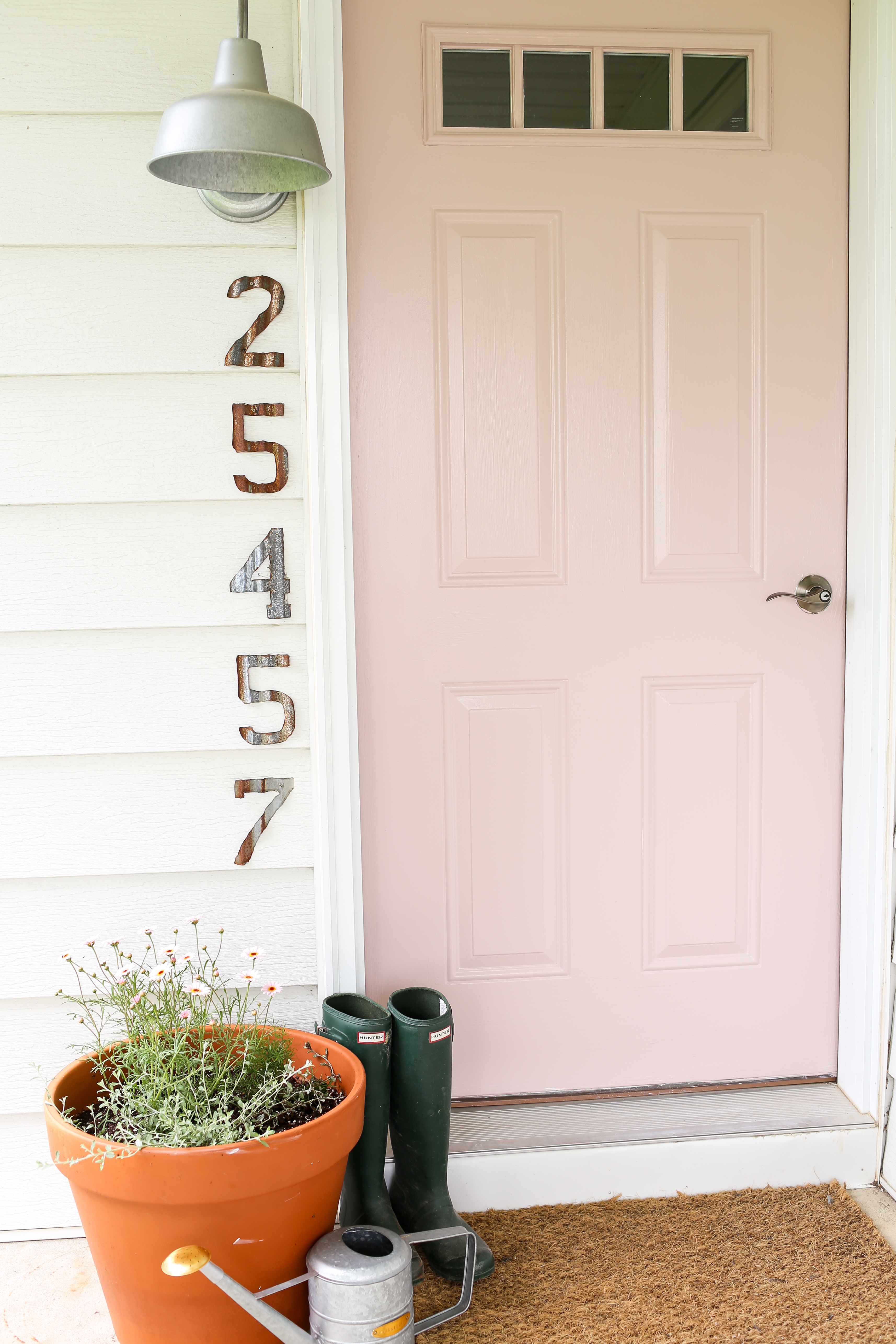 Pale Pink Front Door The Dempster Logbook