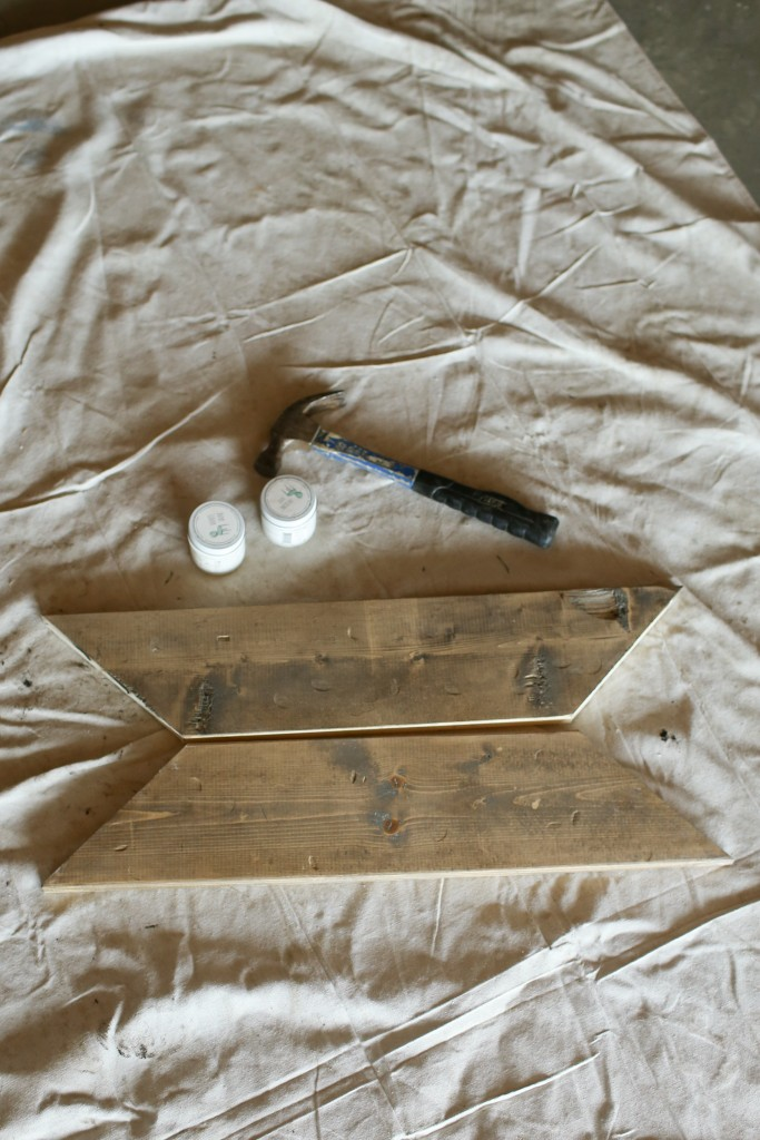 3 supplies and 3 steps to taking new lumber and making it look like worn and weathered wood.  From The Dempster Logbook.
