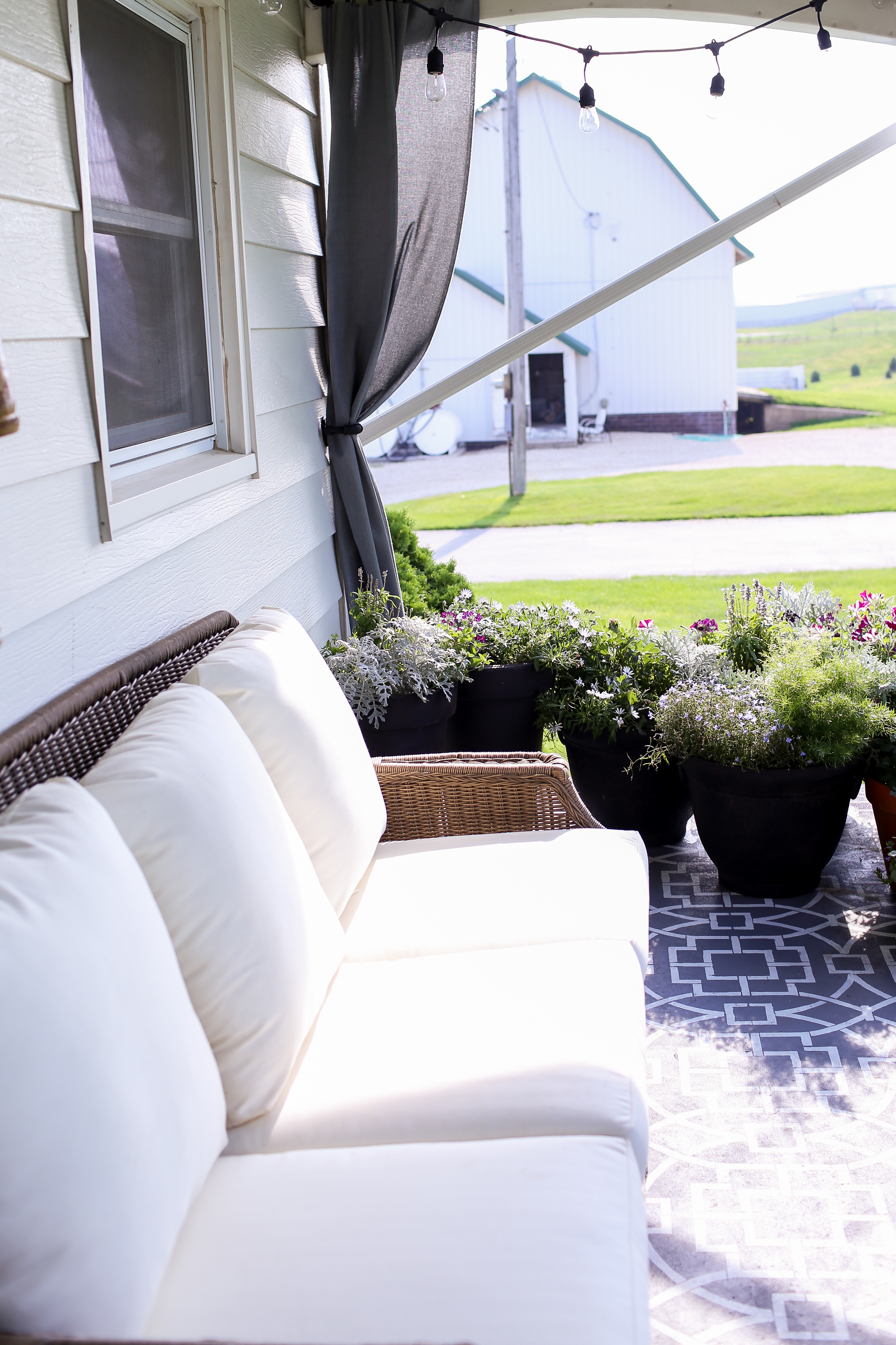 Finally!  The Farmhouse Front Porch Reveal.