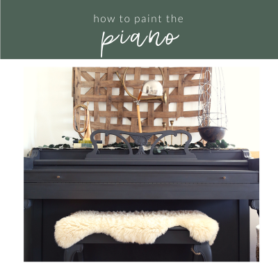 How To Paint The Piano in 4 Steps