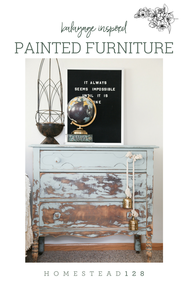 Painted Furniture Is Heavily Distressed In A Gradual Way, Inspired By  Balayage Hair Coloring.