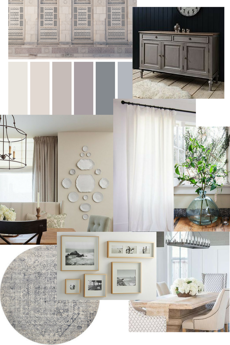 An East Coast Traditional Dining Room Is Planned With A Mood Board Updated