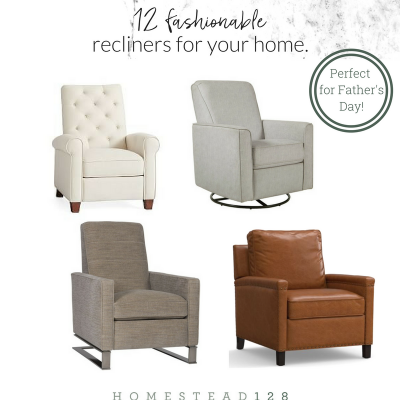 12 Fashionable And Timeless Recliners For Your Modern Farmhouse