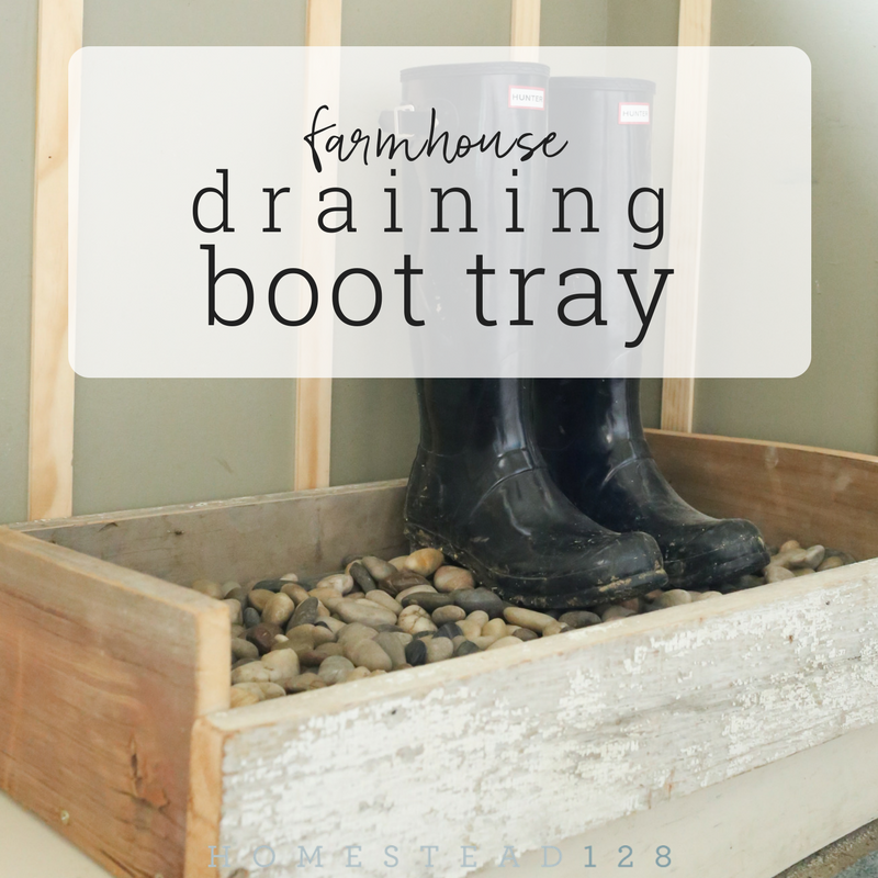 Draining Boot Tray DIY For Farmhouse – ORC Week 5