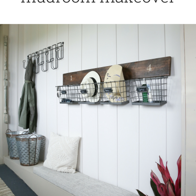 Farmhouse Mudroom Makeover – One Room Challenge Reveal
