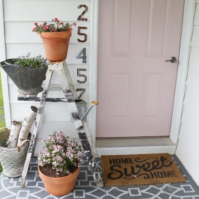 Adding Color To The Farmhouse Front Porch