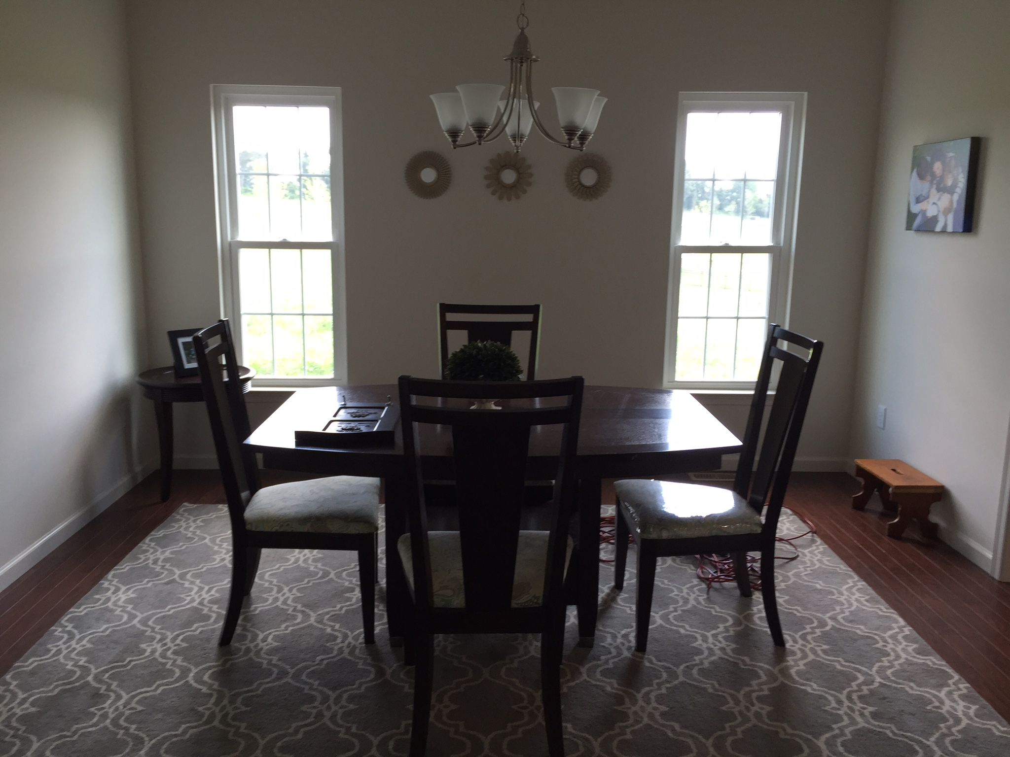 The before picture in the transitional east coast dining room.