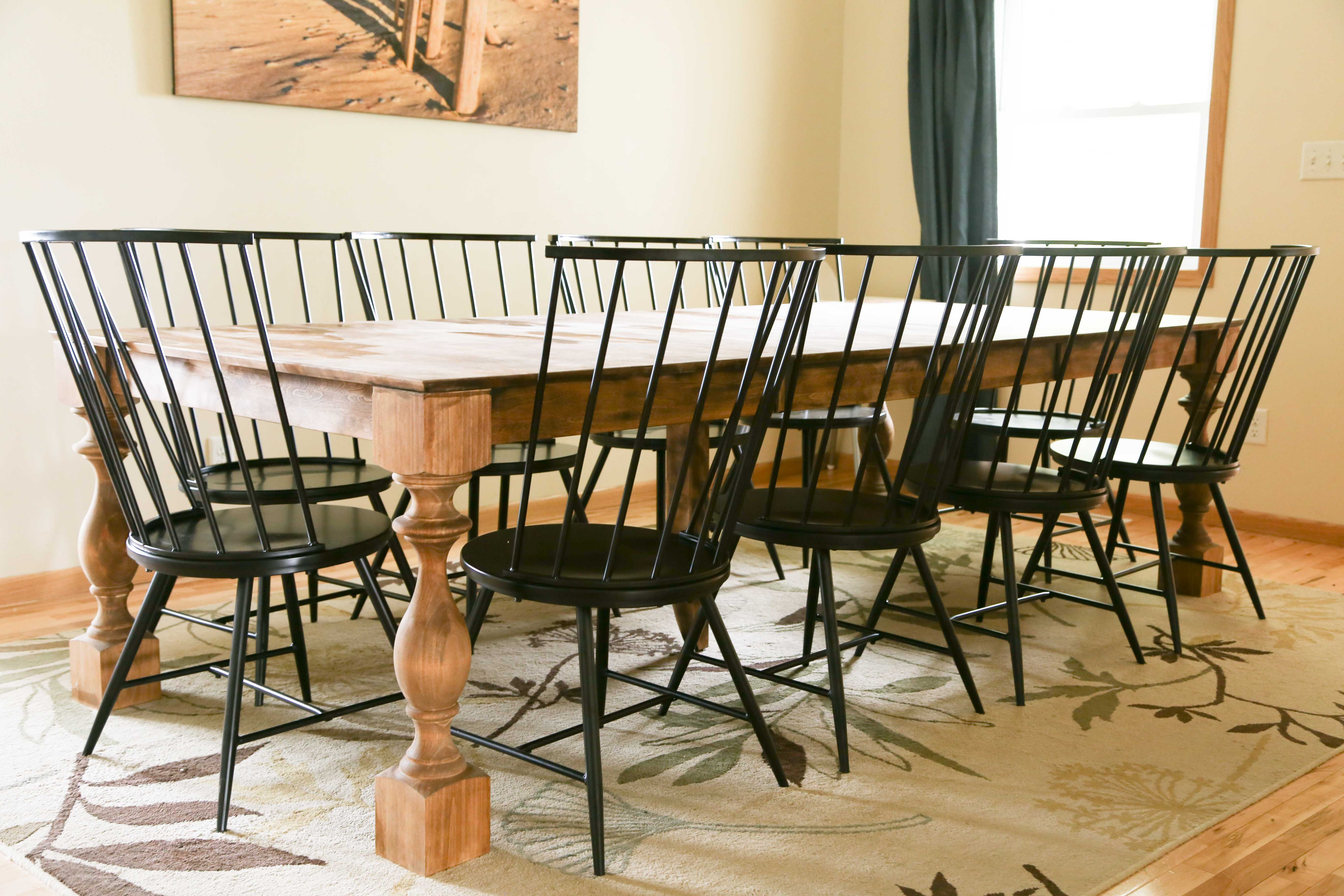 Transform A Basic Contemporary Dining Set Into Modern Farmhouse
