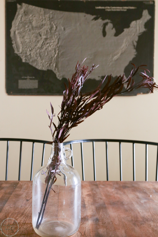 A few stems in a large glass jar makes a beautiful statement during fall.