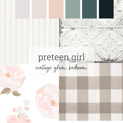 Preteen Vintage Glam Bedroom – One Room Challenge Guest