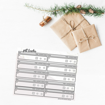Christmas Gift Giving List Organized – Free Gift Tracking Sheet