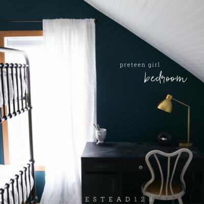 Vintage Glam Bedroom For Preteen Girls – One Room Challenge