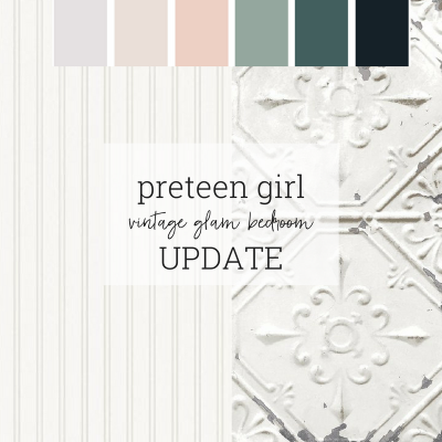 Vintage Glam Girl Bedroom: One Room Challenge Update
