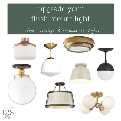 15 Trendy Flushmount Lights For A Modern Farmhouse