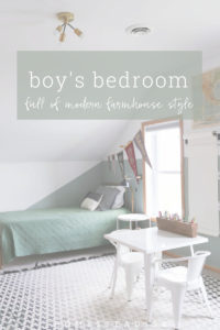 A modern farmhouse bedroom for boys, bursting with style.