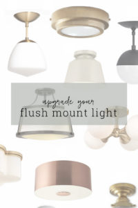 Who says flush mount lights have to be boring?  Update your space with a modern light fixture.