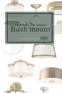 Upgrade your builder grade flush mount light for one with style.