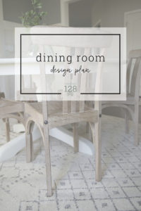 A dining room design plan for the east coast home.