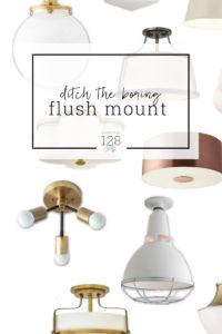 Forget boring flush mount lights!  These light fixtures pack a lot of style into a small space.