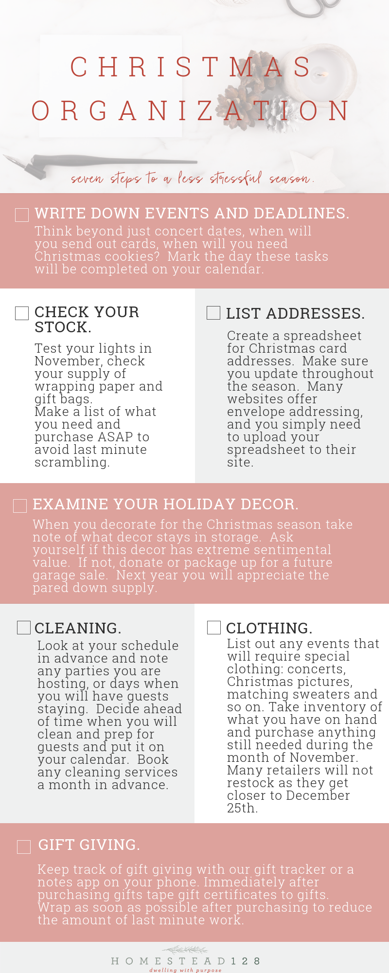 Christmas well organized - take action now for a less stressful December.