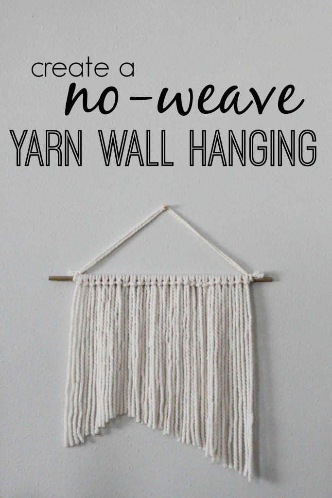 Create a no-weave yarn wall hanging for your home with only 3 supplies!  www.homestead128.com