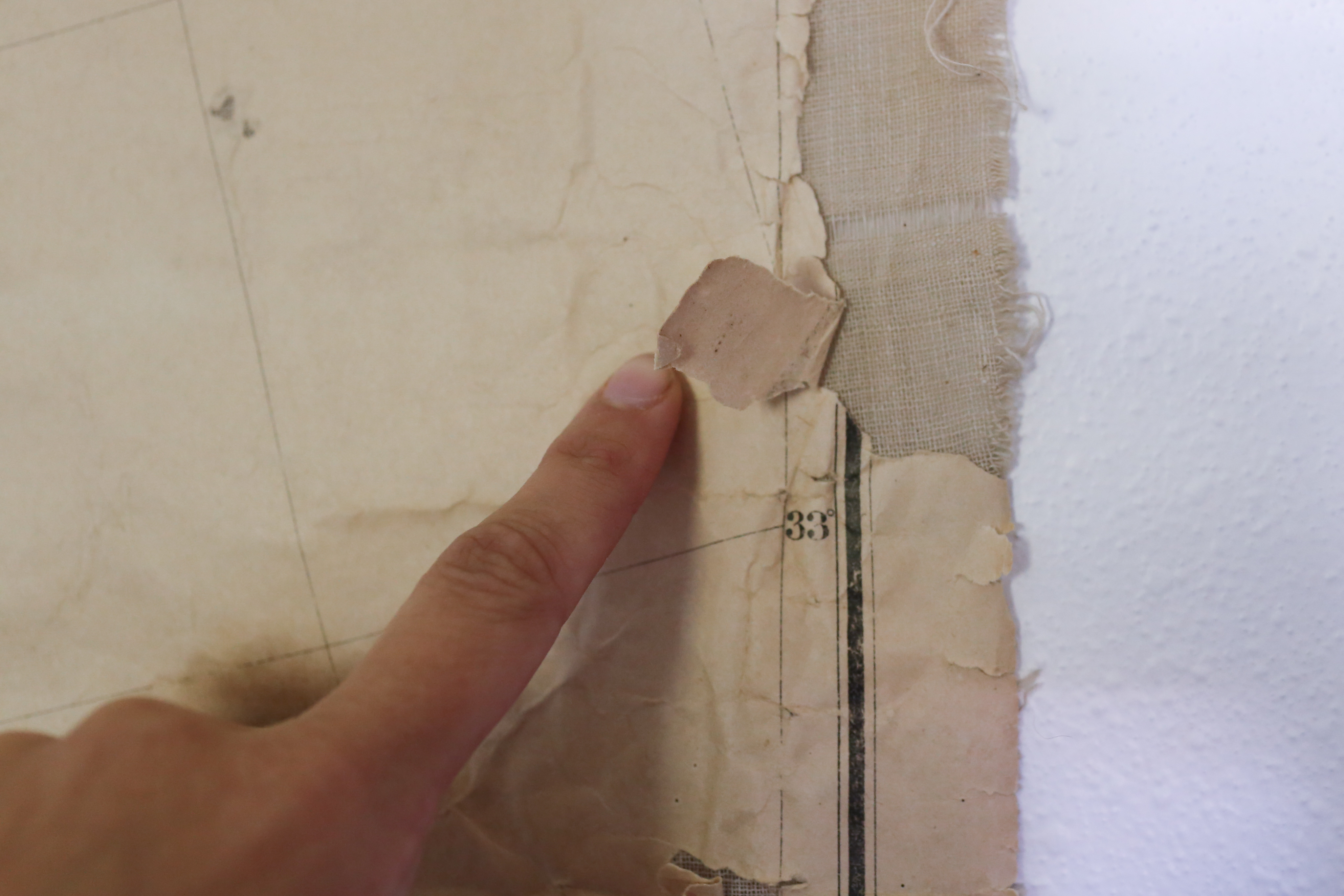 How To Repair A Vintage Map