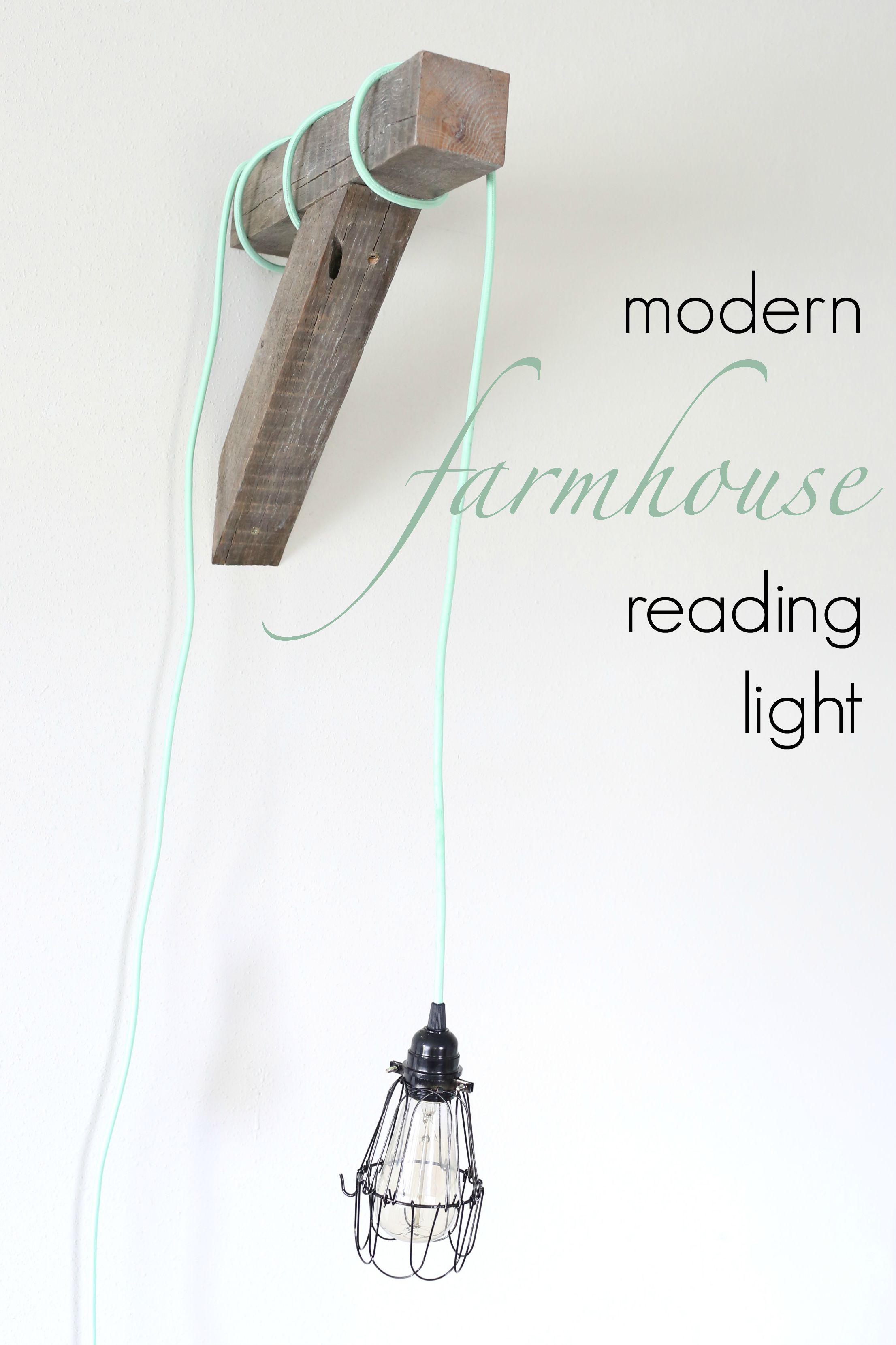 Modern Farmhouse DIY Reading Light