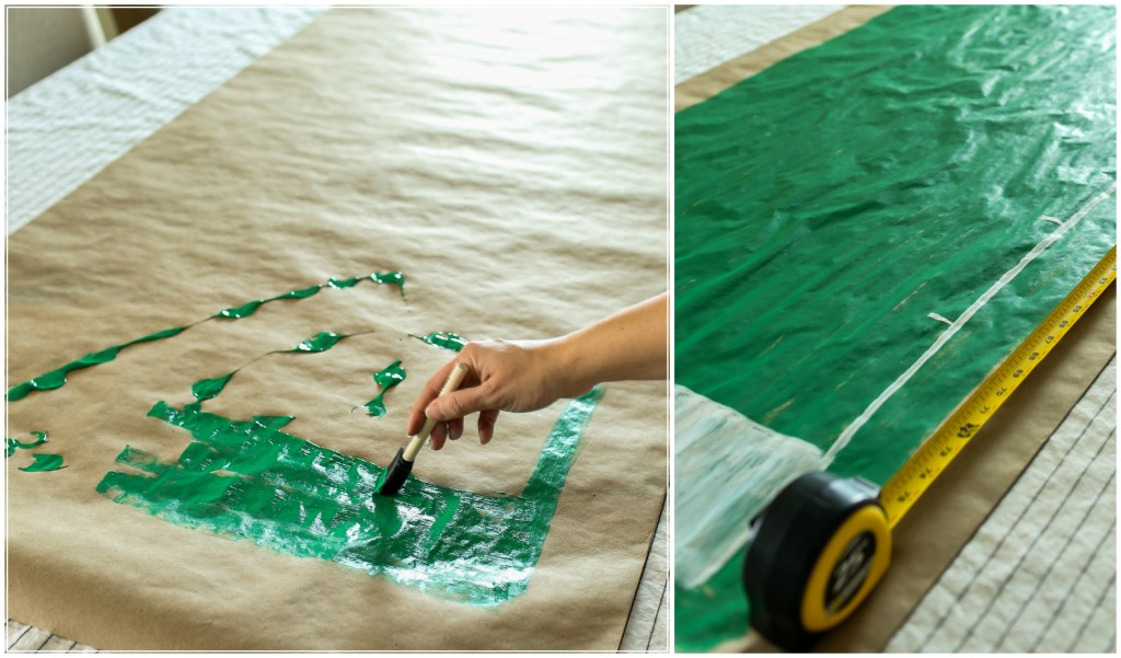 Create a football field table runner for a football party!