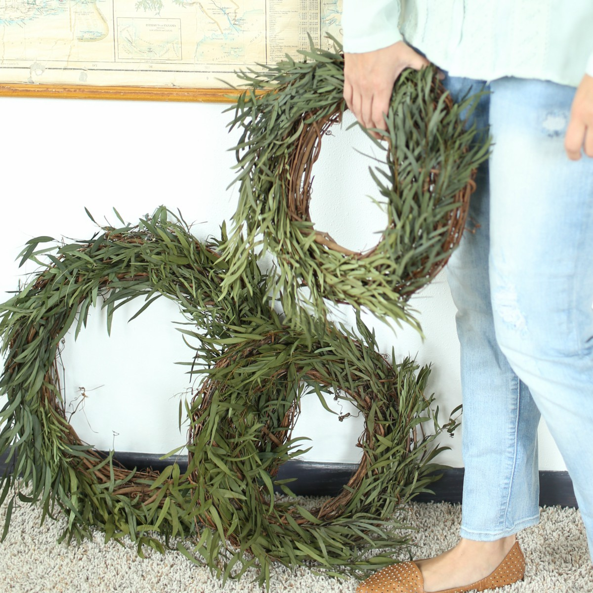 Decorate for the seasons with a simple willow wreath.