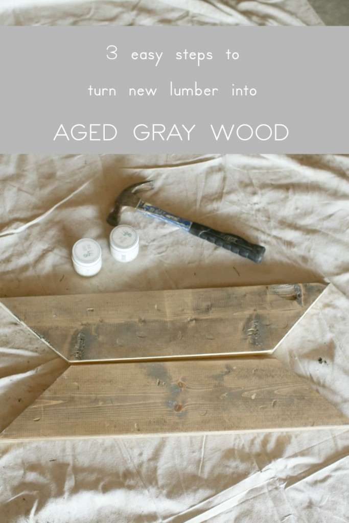 3 steps to take new lumber and make it look like weathered and gray wood.  The Dempster Logbook.