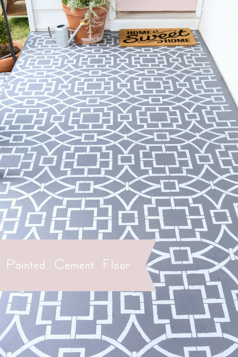 Get The Cement Tile Look With Stencils