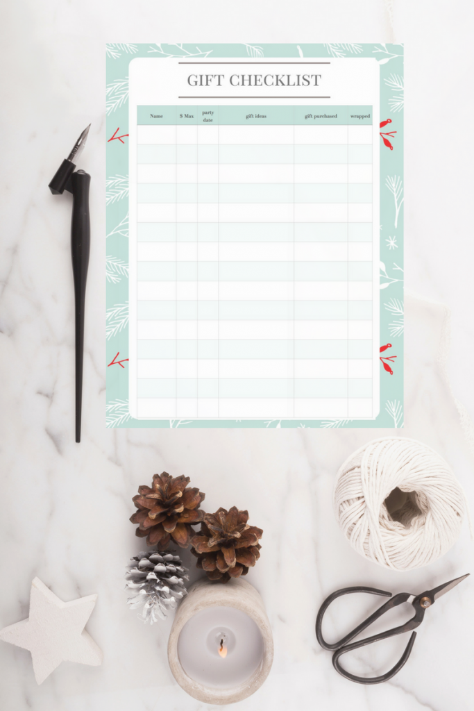 The gift checklist that helps even the busiest stay organized!