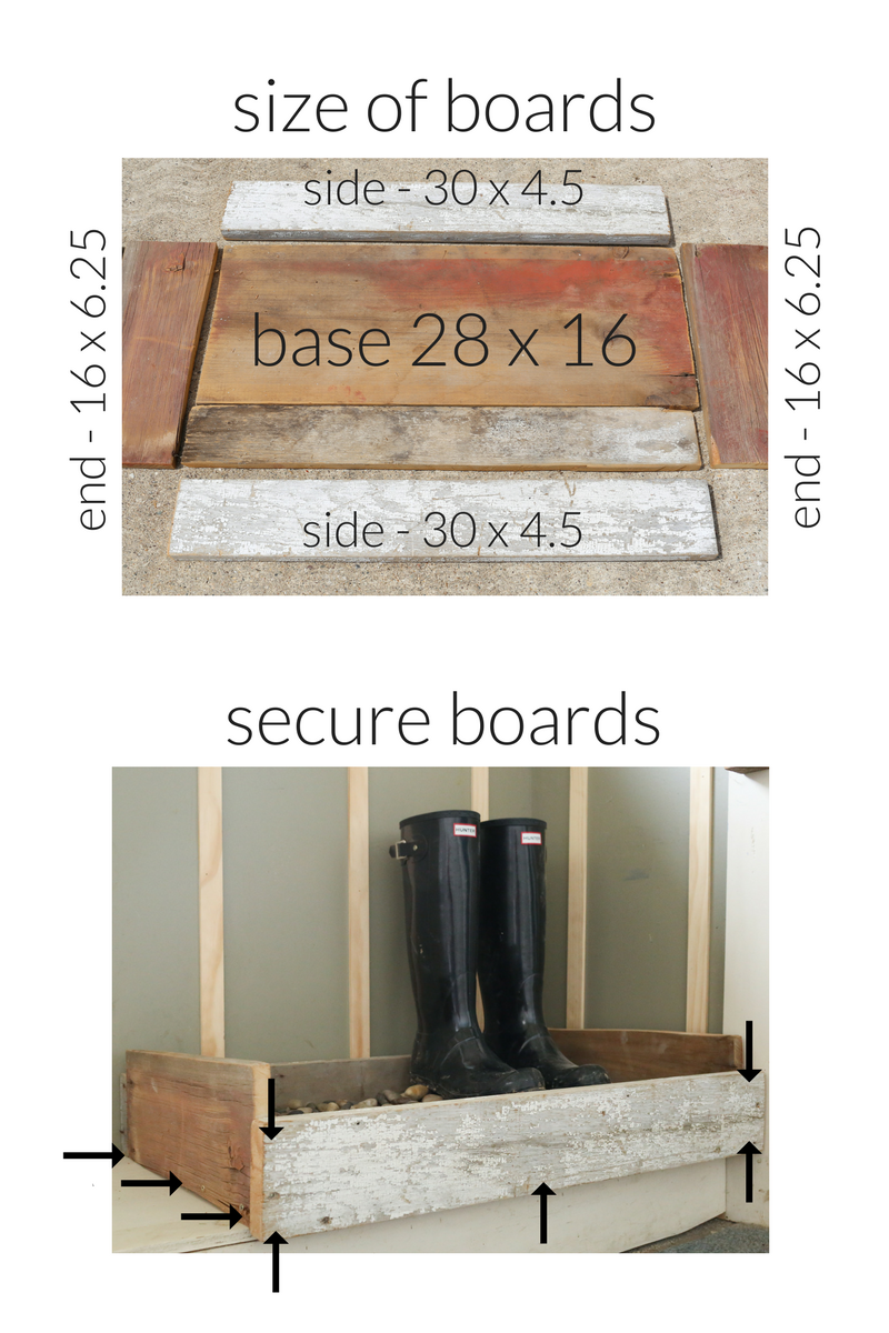 Boot tray ideas. Creating your own crate to hold a boot tray.