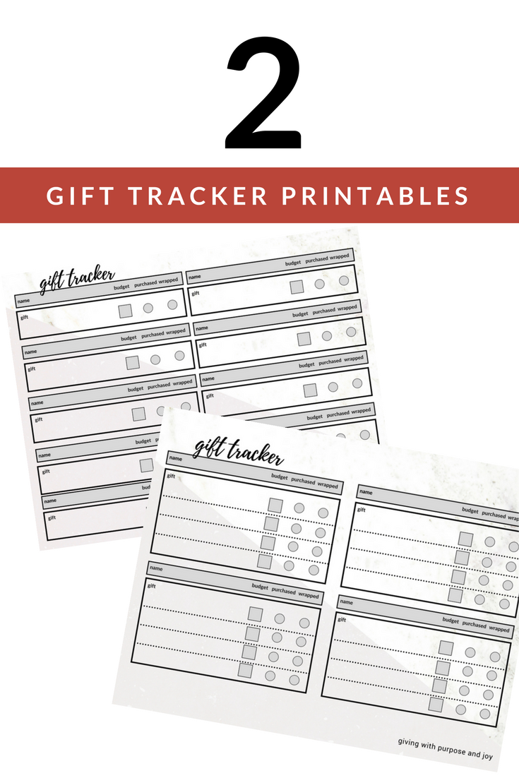 Christmas Gift Giving List Organized - Free Gift Tracking Sheet