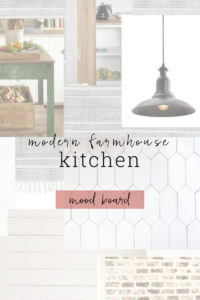 A mood board full of inspiration for the modern farmhouse kitchen.