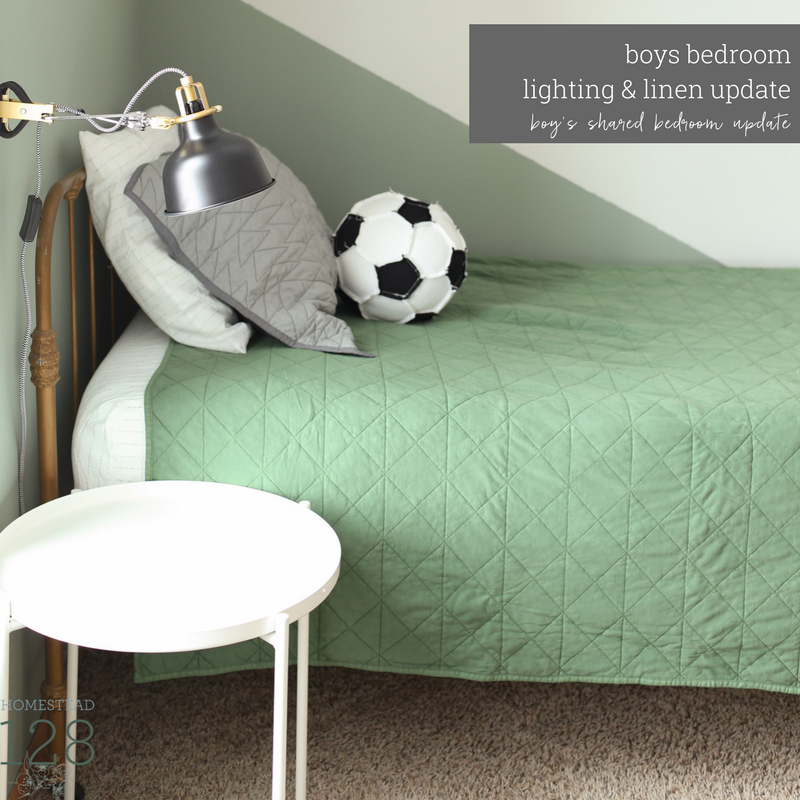 Modern And Industrial Boy Bedroom: Lighting and Linens