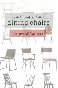 Update your dining space with these trending chairs.