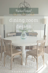 The board and batten dining room design plan.