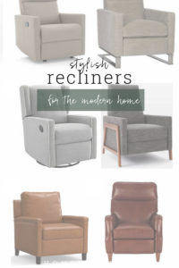 Recliners that bring in style!