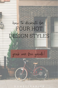 Grab this free guide to learn how to identify four trending design styles: farmhouse, industrial, scandinavian & mid-century modern.