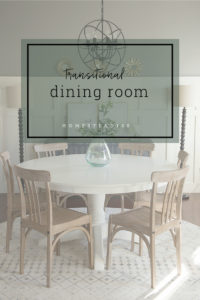 The dining room plan for a busy family always on the go.