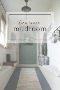 The farmhouse mudroom with space for seating, storage, and full of style.  Homestead 128
