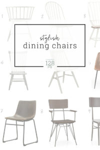 The best dining chairs in wood, metal and leather.