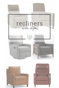 Stylish recliners you'll love to sit in.