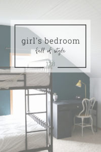 A shared girls bedroom with room for sleeping, working and play.